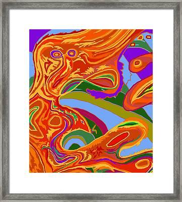 Framed Print featuring the digital art Shaman 3 by Julia Woodman