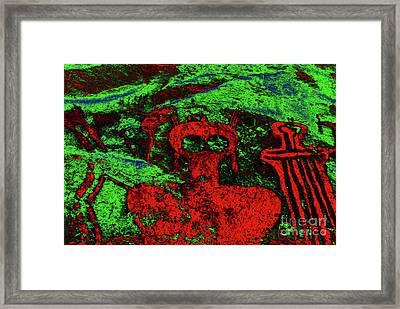 Shaman And Helper Framed Print