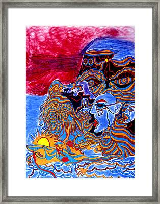 Shaman Of The Red Sky Framed Print by William Watson