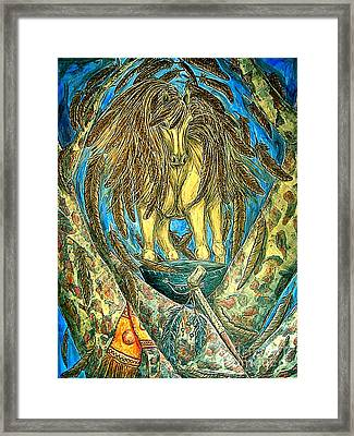 Shaman Spirit Framed Print by Kim Jones