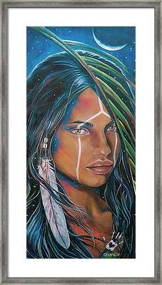 Shamanic Feelher Framed Print