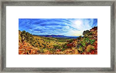 Shaman's Dome Trail Framed Print by ABeautifulSky Photography