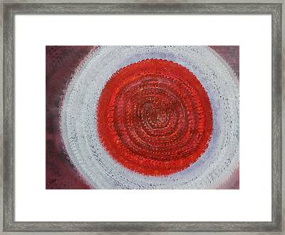 Shaman's Drum Original Painting Framed Print by Sol Luckman