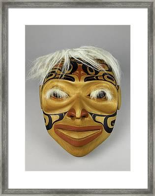 Shaman's Mask Framed Print by Gary Dean Mercer Clark
