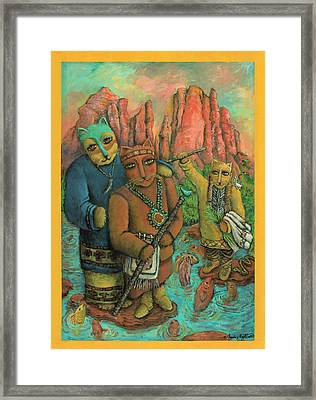 Shamans Of Sedona  Framed Print by Janice Hightower