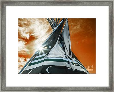 Shamans Tipi Framed Print