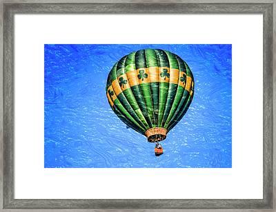 Shamrock Balloon Framed Print