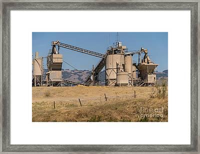 Shamrock Materials Inc Industrial Plant Petaluma California Usa Dsc3864 Framed Print by Wingsdomain Art and Photography
