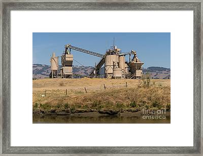 Shamrock Materials Inc Industrial Plant Petaluma California Usa Framed Print by Wingsdomain Art and Photography