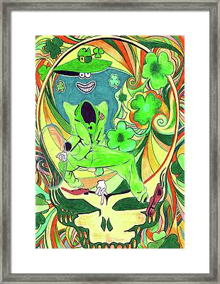 Shamrock Shakedown Framed Print by Kevin J Cooper Artwork