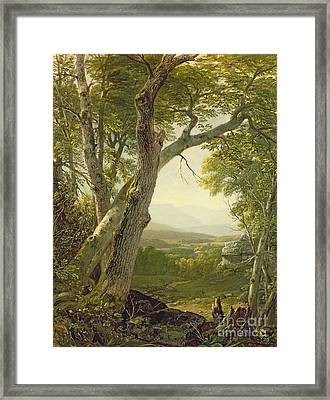 Shandaken Ridge - Kingston Framed Print by Asher Brown Durand