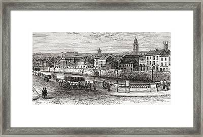 Shandon By The River Lee, County Cork Framed Print by Vintage Design Pics