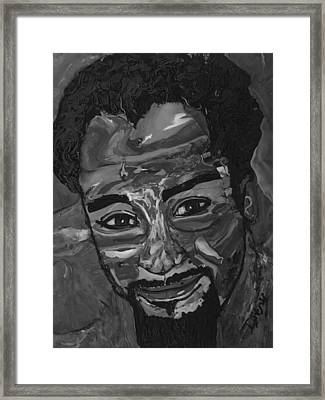 Shane In Black And White Framed Print