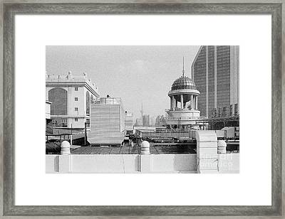 Shanghai Skyline With Oriental Pearl Tower Framed Print by Dean Harte