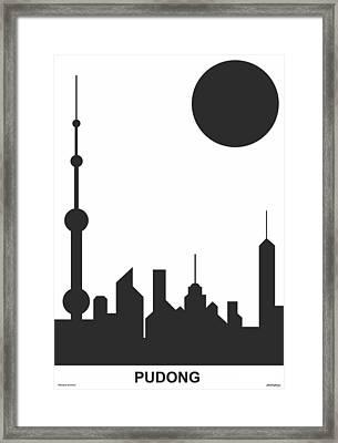 Shanghai Sunshine Black White Framed Print by Asbjorn Lonvig