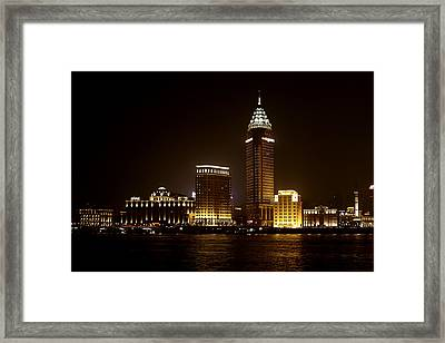Shanghai's Bund Is Back To Its Best Framed Print by Christine Till