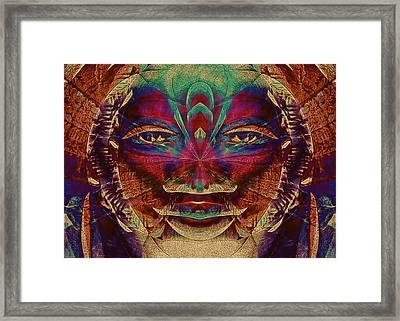 Shango Framed Print by Devalyn Marshall