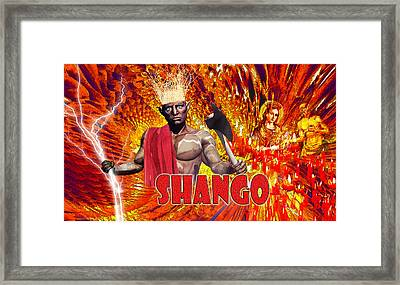 Shango Framed Print by Edelberto Cabrera
