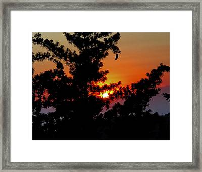 Shangrila Sunset Framed Print by Jack Eadon
