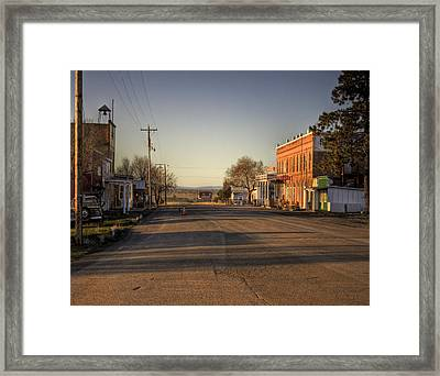 Shaniko Oregon  Framed Print by Lee  Santa