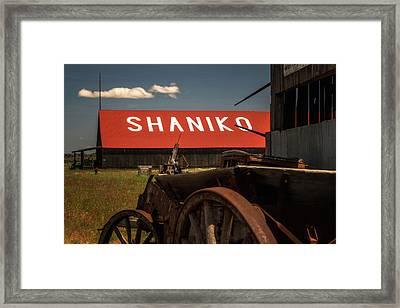 Shaniko Oregon Framed Print by Marnie Patchett
