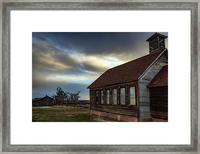 Framed Print featuring the photograph Shaniko Schoolhouse by Cat Connor
