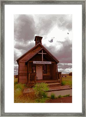Shaniko Wedding Chapel Framed Print by Jeff Swan