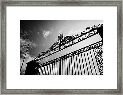 Shankly Gates Anfield Stadium Liverpool England Uk