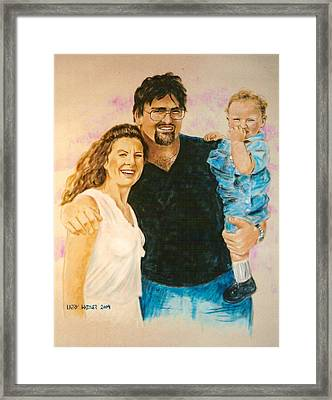 Shannon Carrie And Tommy Framed Print
