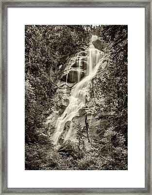 Shannon Falls - Bw Framed Print