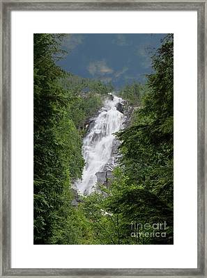 Framed Print featuring the photograph Shannon Falls by Rod Wiens