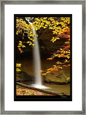 Shanty Hollow Falls Framed Print by Keith Bridgman