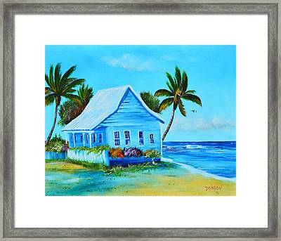 Shanty In Jamaica Framed Print