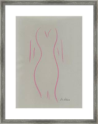 Shape Of A Woman Framed Print by M Valeriano
