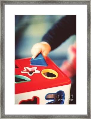 Shape Sorter Toy Framed Print by Sue Baker