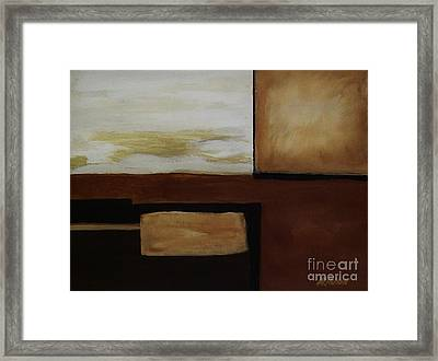 Shaped Abstract Framed Print by Marsha Heiken
