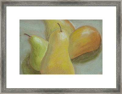 Shapely Pears Framed Print by Cheryl Albert