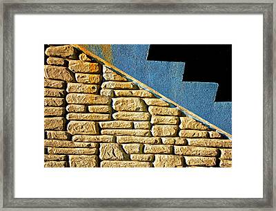 Shapes And Forms Of Station Stairway Framed Print