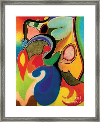 Shapes Framed Print by Christine Perry