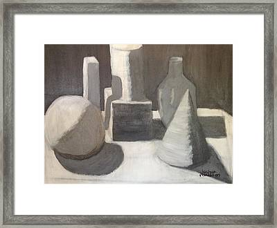 Shapes In Light And Shadow Framed Print