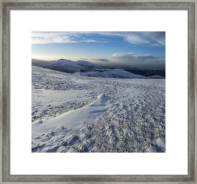 Shapes In The Ice And Far Away Framed Print