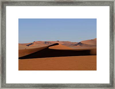 Framed Print featuring the photograph Shapes Of The Dunes by Riana Van Staden