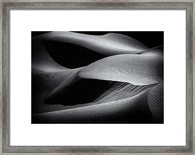 Shapes Of The Dunes Framed Print