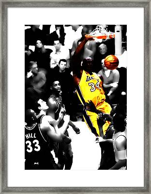 Shaq Monster Slam Framed Print