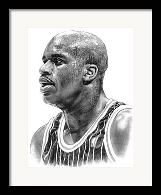 Sports Stars Drawings Framed Prints