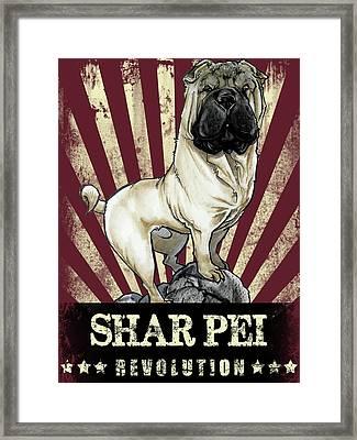 Shar Pei Revolution Framed Print