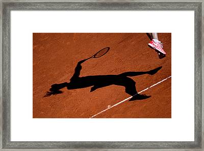 Maria Sharapova 1 Framed Print by Dani Pozo