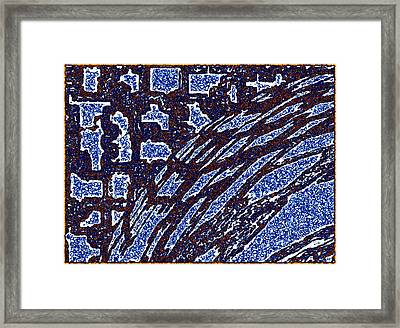 Shards And Pieces Framed Print by Will Borden