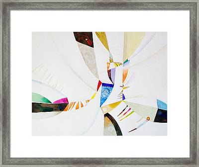 Shards Framed Print by John Norman Stewart