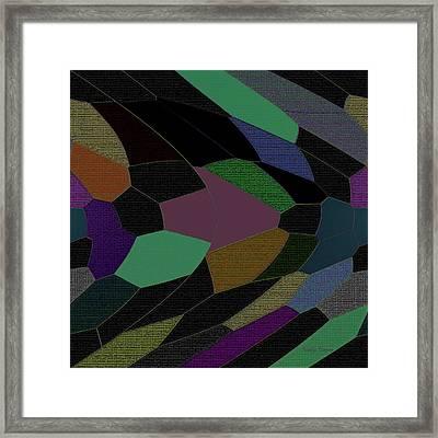 Shards Of Glass Framed Print